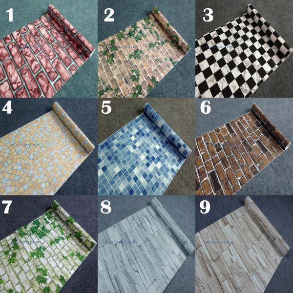 Autoadhesivo papel de pared mosaico ladrillo hoja vinilo - Papel vinilo autoadhesivo ...