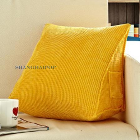 1 X Wedge Triangle Plain Cushion Pillow BED Sofa Chair ...