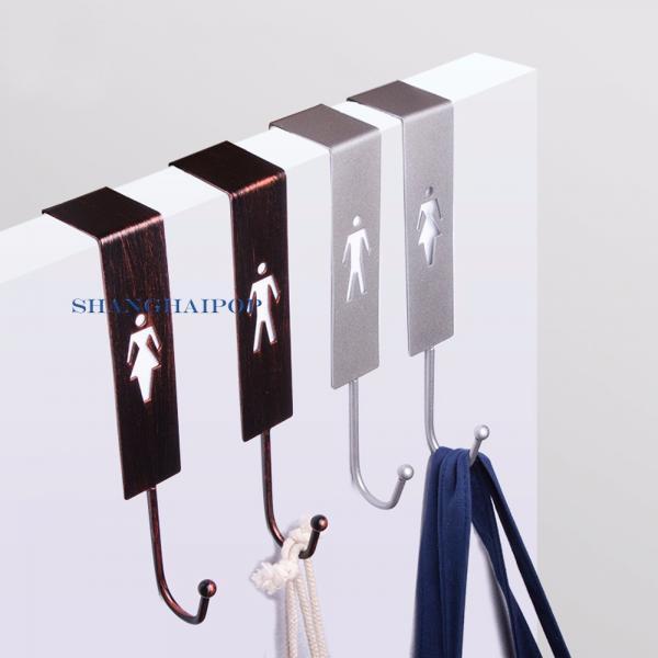 1 x metal iron over door hooks clothes coat hanger hanging for Bathroom clothes hanger