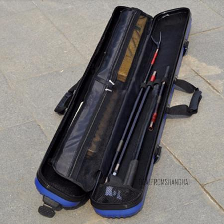 Fishing rod tackle hard abs case bag carry holder luggage for Fishing pole travel case
