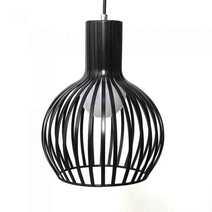 Vintage Black Metal Cage Pendant Lighting Chandelier Lights