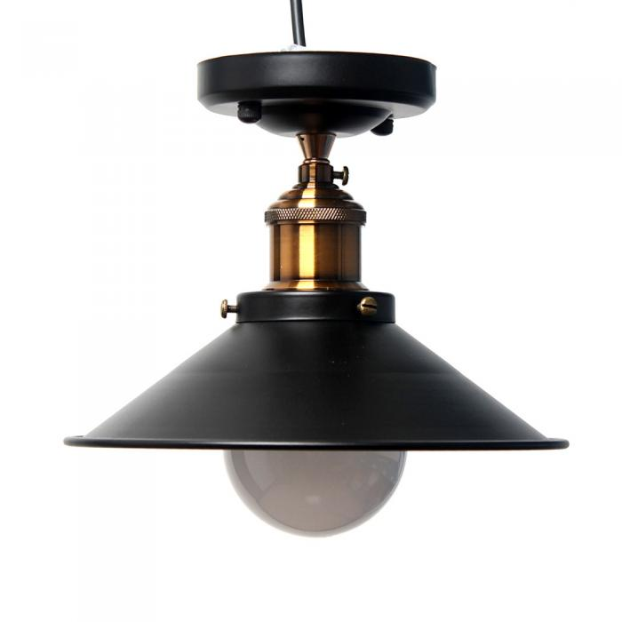Wall Hanging Lamp Shades : Vintage Industrial Metal Ceiling Hanging Wall Lamp Farmhouse Cafe Light Shades eBay