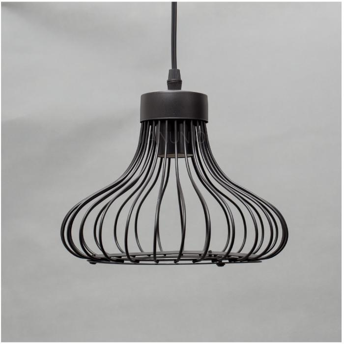 Black Pendant Light Lamp Chandelier Wire Cage Hanging