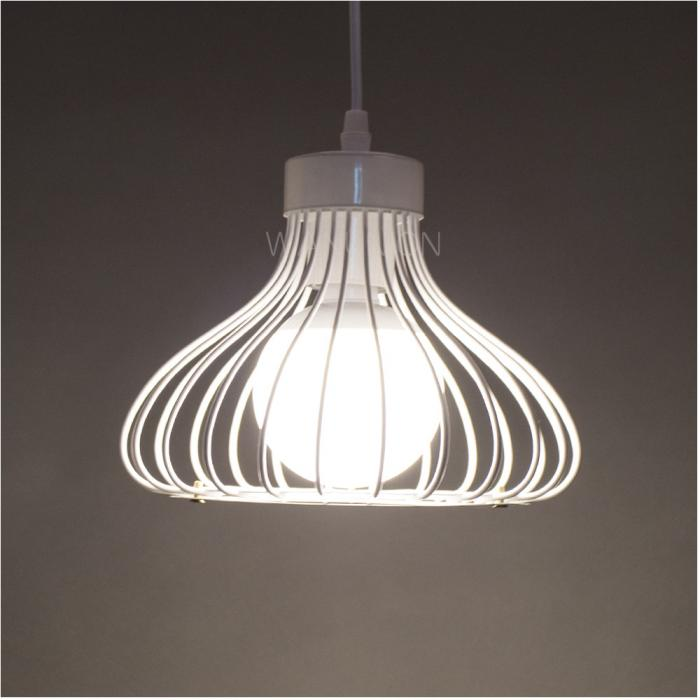 White Modern Metal Pendant Wire Ceiling Lamp Chandelier
