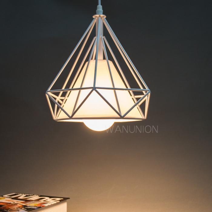 Vintage Diamond Shape Pendant Light Geometric Edison Cage