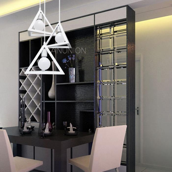Vintage industrial geometric diy pendant lights chandelier ceiling lighting lamp - Diy industrial chandelier ...