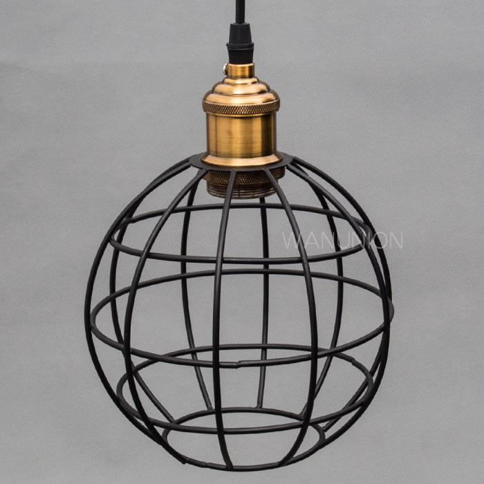 Hanging Light Round: Vintage Pendant Lighting Restaurant Cafe Round Ball Metal