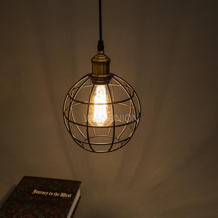 Pendant lights for cafes : Vintage pendant lighting restaurant cafe round ball metal