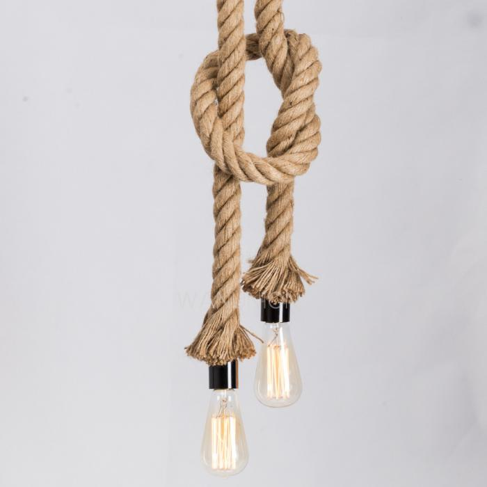 Vintage Loft Diy Nature 2 5m Hemp Rope Ceiling Lamp Light