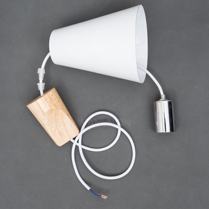 Ceiling Light Fittings Diy : Modern diy fittings pendant lighting wood cone lights
