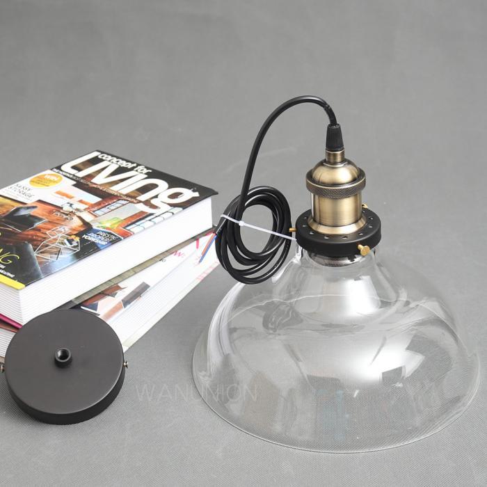Vintage Industrial DIY Ceiling Light Shade Pendant Glass