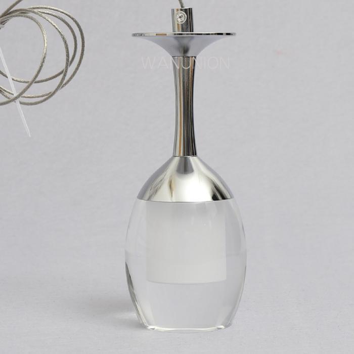 Modern Ceiling Lights Bar Lamp Silver Chandelier Lighting: Crystal Mini LED Wine Glass Ceiling Lights Pendants Lamp
