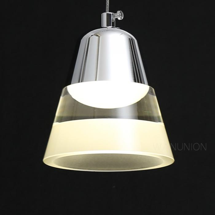 Modern LED Transparent Light Bell Bar Chandelier Pendant
