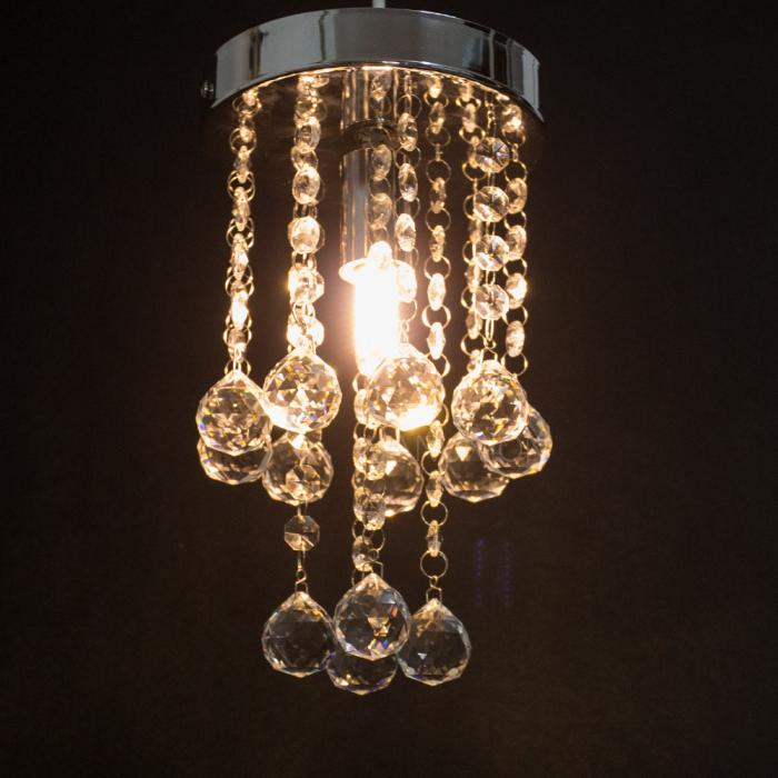 Modern Mini Led Crystal Ceiling Light Pendant Lamp Fixture