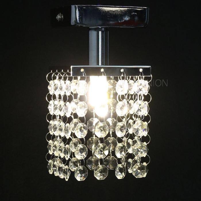 Mini Chandelier String Lights : Modern Mini Crystal Pendant Lights Chandelier Lighting LED Ceiling Hanging Lamp