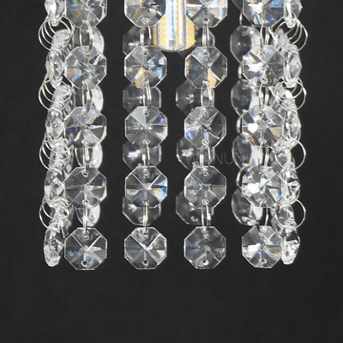 Mini Chandelier String Lights : Modern Mini Crystal Pendant Lights Chandelier Lighting LED Ceiling Hanging Lamp eBay