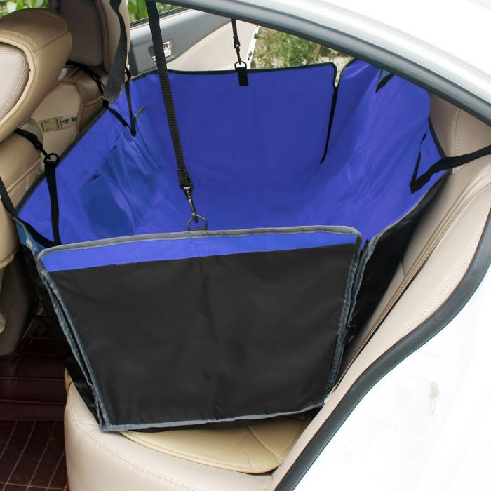 Blue Dog Seat Cover Pet Car Suv Van Back Rear Bench