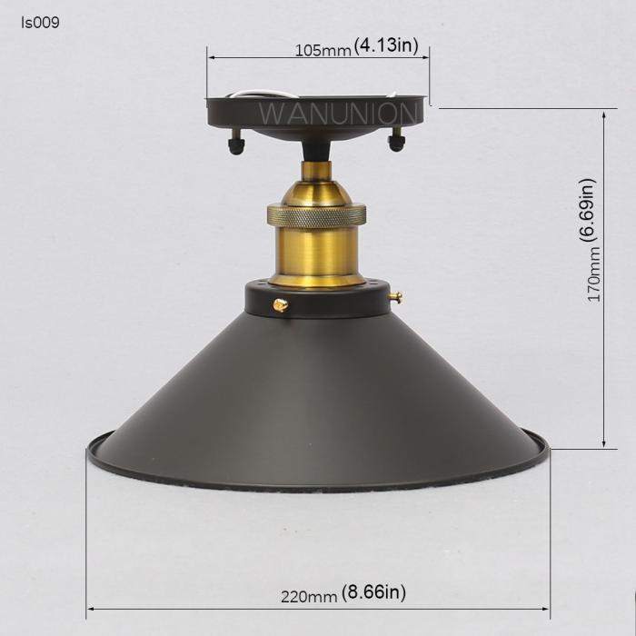 Vintage Retro Industrial Metal DIY Loft Ceiling/ Pendant