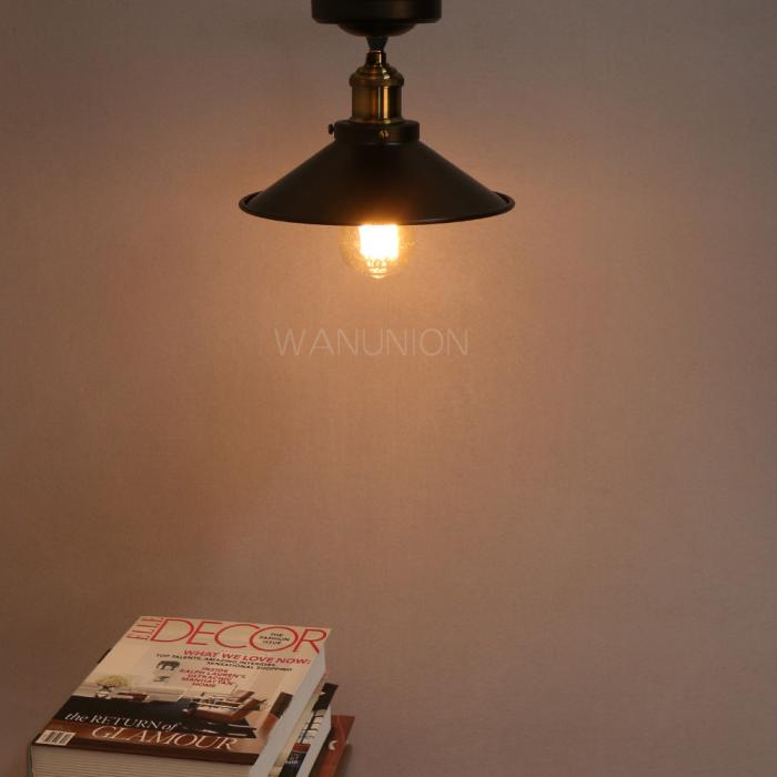 Wall Hanging Lamp Shades : Vintage Industrial Metal Ceiling/ Hanging/ Wall Lamp Farmhouse Cafe Light Shades eBay