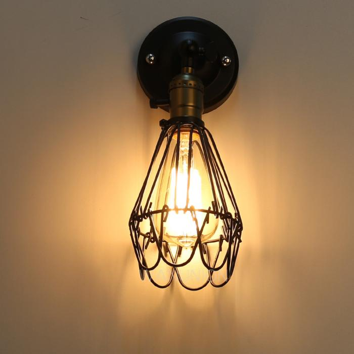 Ceiling Or Wall Light With Cage : Vintage Industrial Cage Loft Pendant/Wall Sconce Ceiling Light Fixture Lampshade eBay