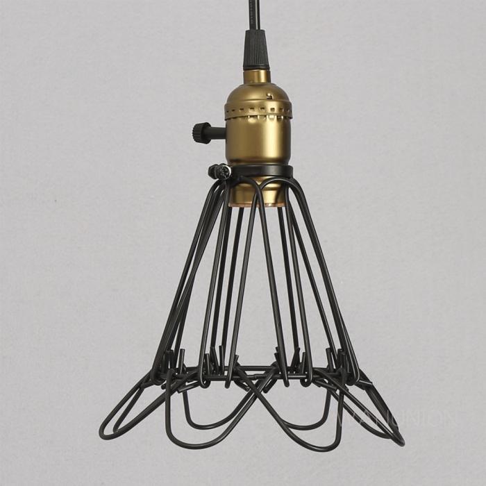 industrial opening closing pendant kichten lighting cage