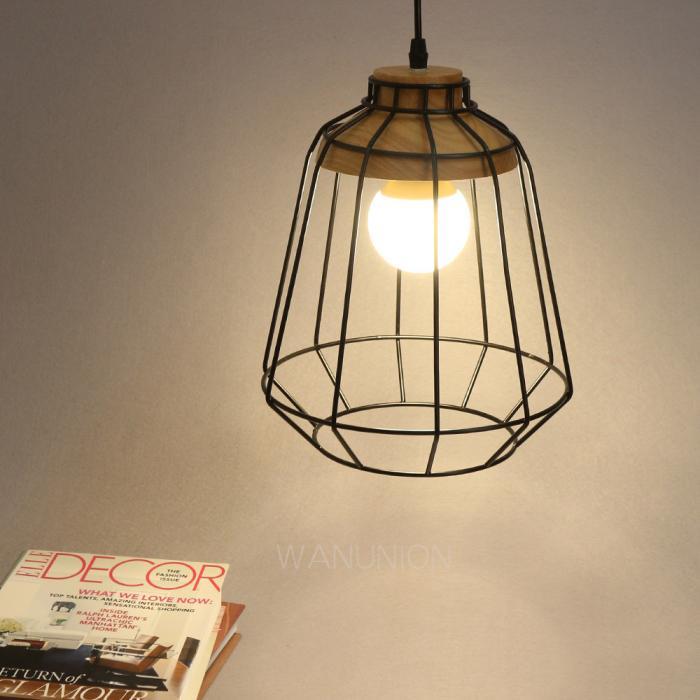 Vintage Industrial Wood Ceiling Pendant Light Lamp Dining