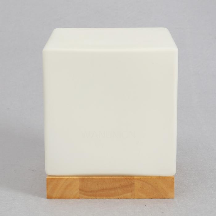 Wooden Cube Wall Lights : Modern Loft Wall Cube Light Wood Lamp Indoor Rustic Fixtures Sconce Shade W/Bulb eBay