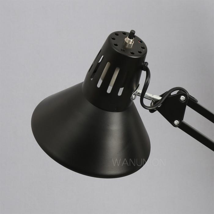 Swing Arm Lamp Black Drafting Desk Adjustable Studio Table