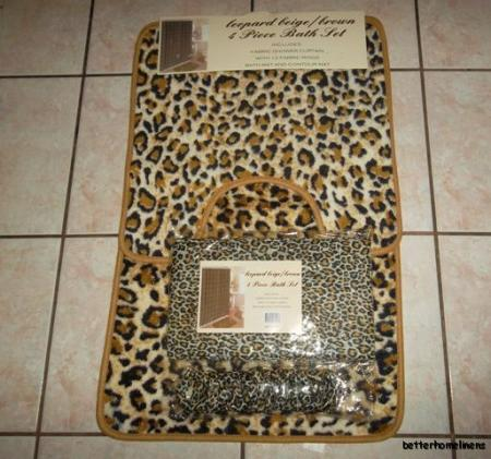 leopard bath rug set house decor ideas