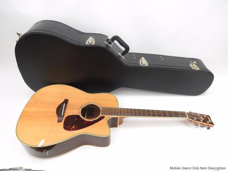 Yamaha fgx730sca right handed 6 string hollow body for Yamaha acoustic guitar ebay