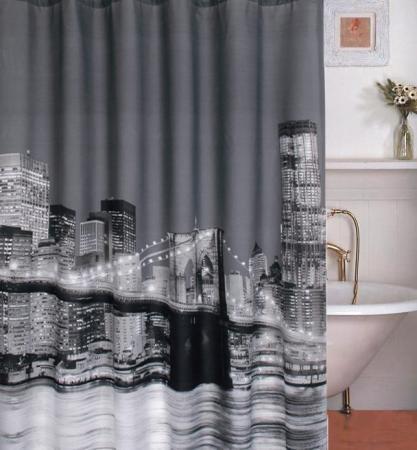 New York Brooklyn Bridge Bathroom Fabric Shower Curtain