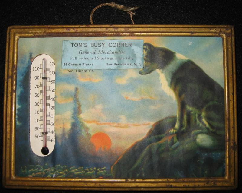 Antique New Brunswick NJ Store Advertising Thermometers