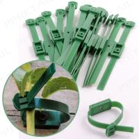 Screw In Trellis//Fence Straps For Climbing Plants White Hinge 40x Green Adjustable Wall Mounted Garden Ties