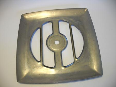 Vintage chrome exhaust fan grill vent cover kitchen for Bathroom exhaust fan cover