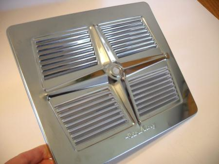 Vintage berns air king chrome louvered exhaust fan cover for 8 kitchen exhaust fan