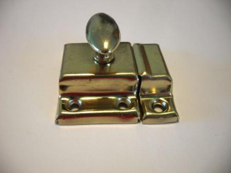 Brass Hoosier Cupboard Cabinet Door Spring Loaded Thumb