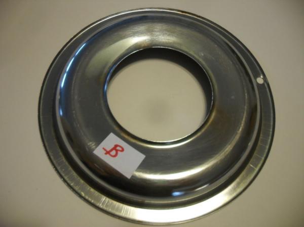 Vtg Chrome Steel Round Stove Grate Burner Drip Pan Range