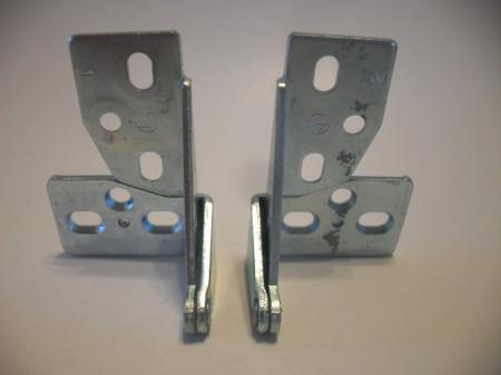 Vintage Nos Zinc Plated Pivot Knife Overlay Cabinet Hinges
