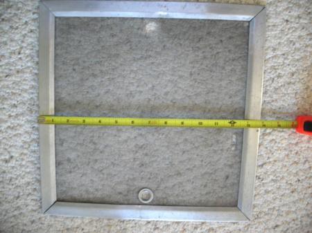 Vintage Hehr Aluminum Trailer Inside Roof Vent Screen 13 3