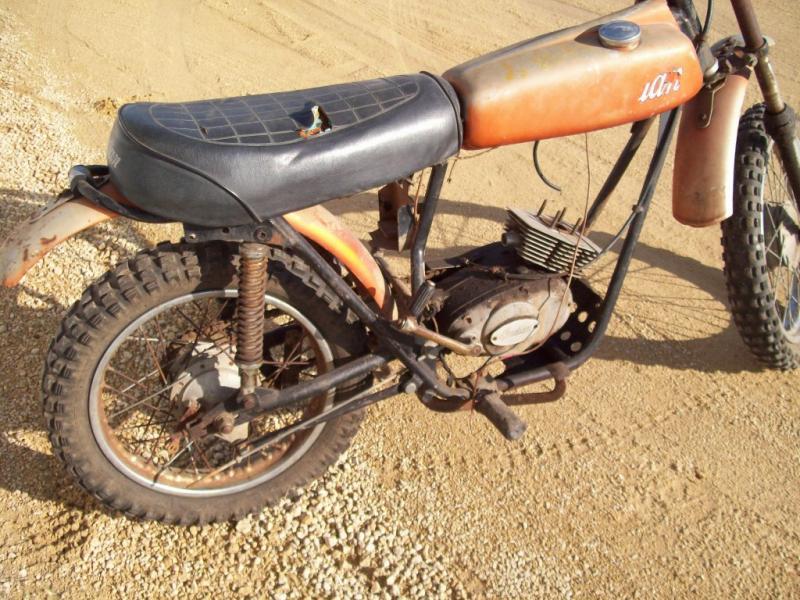 Vintage Indian Motorcycle Dirt Bike For Parts Look