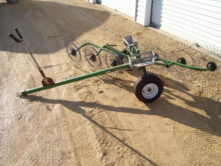 Estate Lawn Wheel Rake Dethatcher Pull Behind Nice Ebay
