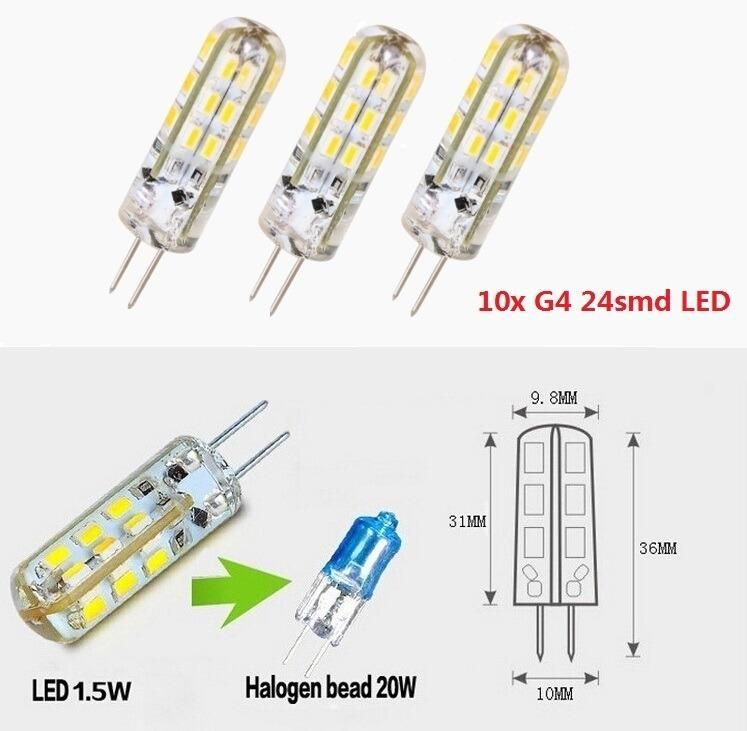 10x g4 1 5w 3w led 24 3014smd capsule bulb replace halogen dc 12v light lamps ebay. Black Bedroom Furniture Sets. Home Design Ideas