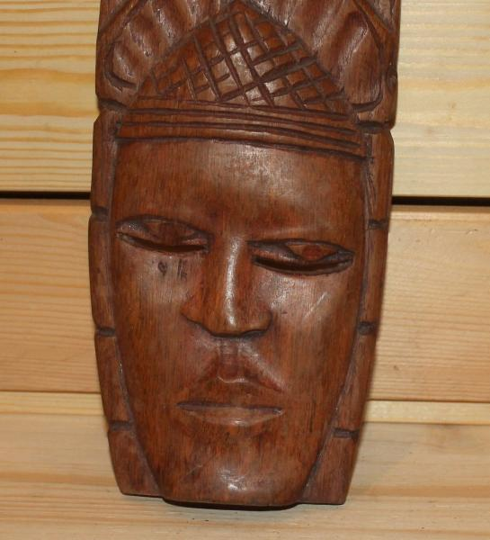 Details About Vintage African Hand Carving Wood Tribal Wall Hanging Mask