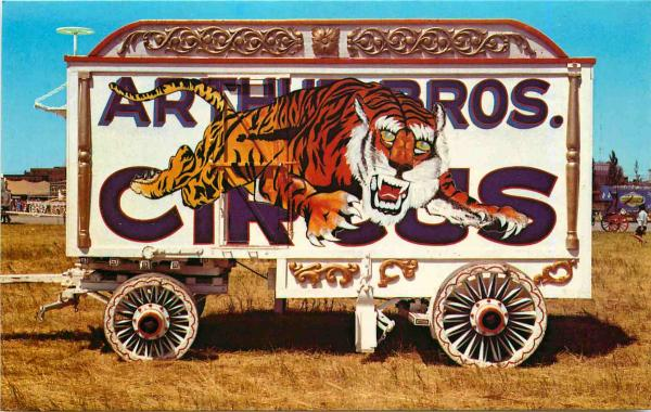 check out actual picture and my version Tiger Tableau Circus Wagon