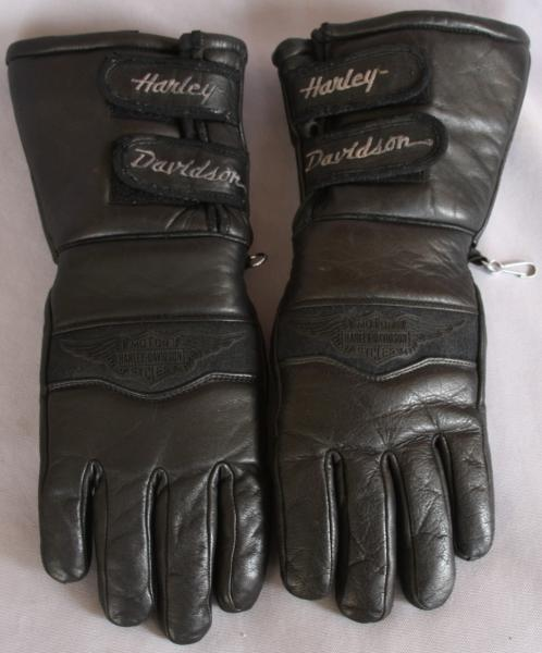 Genuine Harley Davidson Long Leather Motorcycle Gloves Sz XS x Small