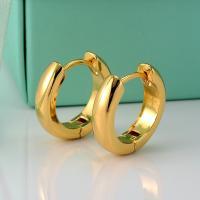 Femme Boucles d/'oreilles Créoles 18k or jaune rempli gold filled 14 mm CALIN BIJOUX 6 mm