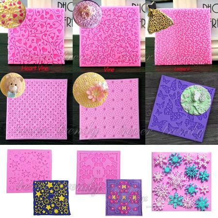 12 Patterns Silicone Lace Cake Decorating Tool Sugarcraft ...