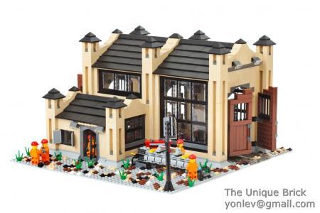 Lego Fashionable Lego Custom Train Engine Shedinstructions