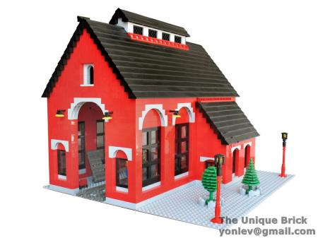 Details About Lego Custom Red Train Shed Instructions Manual City