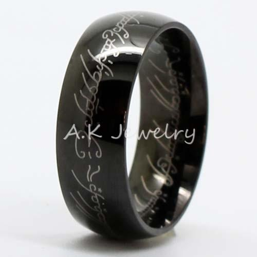 lord of rings the one ring lotr tungsten stainless steel